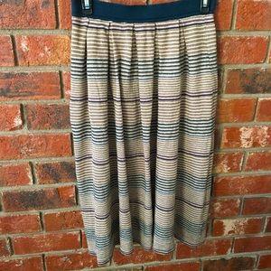 Comme Toi Gold Sparkle Striped Sweater Midi Skirt